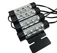 Недорогие -ziqiao 4шт. автомобиль стиль интерьер парковка декоративный свет пассат 3 светодиода led лампа автомобиль дверь заряд 12v свечение 4in1