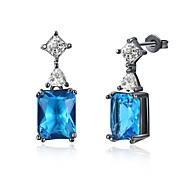 Women's Drop Earrings Hoop Earrings Cubic Zirconia AAA Cubic Zirconia Fashion Personalized Zircon Cubic Zirconia Geometric Jewelry For