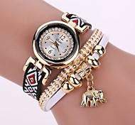 Women's Fashion Watch Simulated Diamond Watch Bracelet Watch Chinese Quartz Imitation Diamond PU Band Bohemian Charm Elegant Casual White