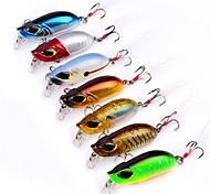 "7 pcs Fishing Lures Hard Bait Minnow g/Ounce,55mm mm/2-1/4"" inch,ABS Plastic Sea Fishing Trolling & Boat Fishing Lure Fishing"
