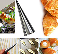 Big Practical Cone Shape Heat Resisitant Stainless Steel Croissant Maker Danish Spiral Pipe