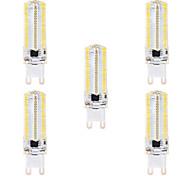 BRELONG DimmableG4 G9 BA15D 8W 152x3014SMD 3000-3500K/6000-6500K Warm White/White Light LED Corn Bulb AC110V/220V 5PCS