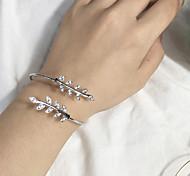 cheap -Women's Cuff Bracelet - Leaf Fashion Bracelet Silver / Rose Gold For Daily