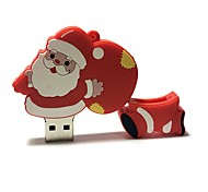 8gb natal usb flash drive cartoon criativo santa claus presente de natal usb 2.0