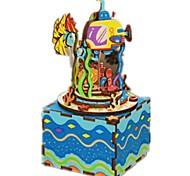 Набор для творчества музыкальная шкатулка Калейдоскоп Игрушки Новинки Дерево Куски Для детей Универсальные День рождения День Святого