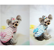 cheap -Dog Vest Dog Clothes Casual/Daily Bowknot Blue Pink Costume For Pets
