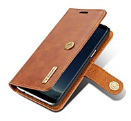 Case For Samsung Galaxy S8 Plus S8 Wallet Card Holder Flip Magnetic Full Body Solid Color Hard Genuine Leather for S8 S8 Plus S7 edge S7