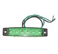 sencart 12pcs 6led 2835smd зеленая лампа тормозная сторона маркер автомобиль с индикаторами мотоцикла dc12v