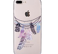 cheap -For iPhone 7 iPhone 7 Plus Case Cover Rhinestone Ultra-thin Transparent Pattern Back Cover Case Dream Catcher Soft TPU for Apple iPhone 7