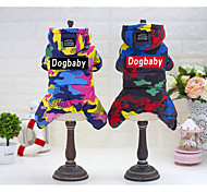 Cat Dog Coat Hoodie Clothes/Jumpsuit Rain Coat Dress Dog Clothes Casual/Daily Keep Warm Waterproof Sports Halloween New Year's Geometric