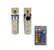 1set 1.5w t10 6smd5050 rgb led дистанционное управление автомобиль лампа алмаз тип декорация dc12v