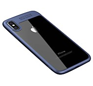 Per iPhone X iPhone 8 Custodie cover Transparente Custodia posteriore Custodia Tinta unica Resistente Acrilico per Apple iPhone X iPhone