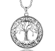 Недорогие -Жен. Дерево жизни На заказ Ожерелья с подвесками Стерлинговое серебро Ожерелья с подвесками , Для вечеринок