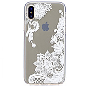 For iPhone X iPhone 8 iPhone 8 Plus Case Cover Ultra-thin Transparent Pattern Back Cover Case Lace Printing Soft TPU for Apple iPhone X
