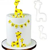 2шт кукуруза резак пластиковая помада торт формы торт украшения инструменты мумия ребенка жирафа