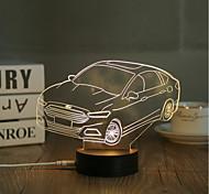 cheap -1 Set, Popular Home Acrylic 3D Night Light LED Table Lamp USB Mood Lamp Gifts, Car