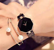 cheap -Women's Fashion Watch Wrist watch Chinese Quartz / PU Band Charm Casual Elegant Black White Blue Red Purple