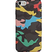 cheap -Case For Apple iPhone X iPhone 8 Pattern Back Cover Camouflage Color Soft TPU for iPhone X iPhone 8 Plus iPhone 8 iPhone 7 Plus iPhone 7