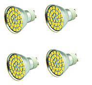 4 piezas 5W Focos LED 55 leds SMD 5730 Decorativa Blanco Cálido Blanco Fresco 800lm 3000-7000K AC 12V