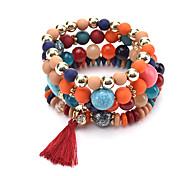 New Bohemia Colorful Natural Stone Bracelet Beads Chakra Onyx Chakra Charm Bracelet For Women Men Pulseira Mujer Accessorie