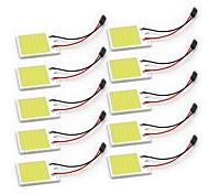 10pcs White COB 48SMD Chip LED CarLight T10 Festoon BA9S Dome Adapter Car Vehicle LED Panel Lamps DC12V