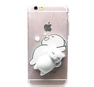 cheap -Case For Apple iPhone X iPhone 8 iPhone 8 Plus iPhone 7 Plus iPhone 7 Transparent Pattern Squishy DIY Back Cover Cat 3D Cartoon Soft TPU
