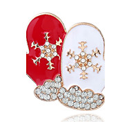 cheap -Women's Rhinestone Brooches - Fashion / Christmas Red Brooch For Christmas / Street
