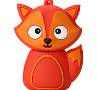 Cartoon Silicone Fox High Speed Shockproof 128GB USB 2.0 Flash Drive U Disk Memory Disk