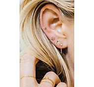 Women's Stud Earrings Drop Earrings Tassel Sexy Alloy Heart Star Jewelry For Casual Club