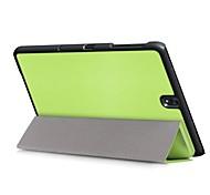 preiswerte -Hülle Für Samsung Galaxy Ganzkörper-Gehäuse Tablet-Hüllen Solide Volltonfarbe Hart PU-Leder für Tab S3 9.7