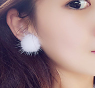 Women's Stud Earrings Sexy Cute Style Plush Ball Jewelry For Daily Christmas