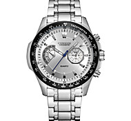 CURREN Men's Sport Watch Fashion Watch Wrist watch Quartz Stainless Steel Band Luxury Cool Casual Silver
