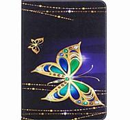Недорогие -бабочка шаблон держатель карты кошелек с подставкой магнитный кожаный чехол pu для Samsung Galaxy Tab 9,7 t550 t555 9,7-дюймовый
