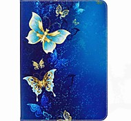 cheap -Case For Samsung Galaxy Tab S2 9.7 Full Body Cases Tablet Cases Butterfly Hard PU Leather for