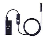 wifi endoscope 8mm étanche endoskop borescope caméra d'inspection 1m ios windows andoriod pc caméra vidéo serpent 6 led