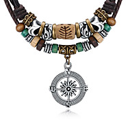 cheap -Women's Round Others Pendant Necklace Leather Alloy Pendant Necklace , Gift Stage