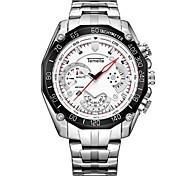 Муж. Модные часы Наручные часы Кварцевый сплав Группа Серебристый металл