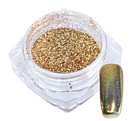 abordables -1 g / bouteille or arc-en-ciel laser holographique chrome pigment brillant nail art paillettes