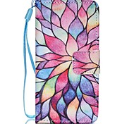 Case For Apple Ipod Touch5 / 6 Case Cover Card Holder Wallet with Stand Flip Pattern Full Body Case Lotus Hard PU Leather