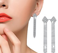 Women's Stud Earrings Drop Earrings AAA Cubic Zirconia Fashion Luxury Sterling Silver Cubic Zirconia Square Jewelry For Party Gift