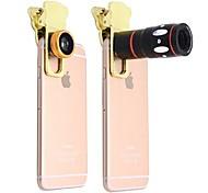 10x многофункциональный 4 in1 внешний объектив камеры широкоугольный макросъемка телескоп для мобильного телефона (золото)