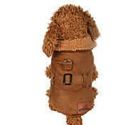 Dog Vest Dog Clothes Casual/Daily Solid Brown Costume For Pets
