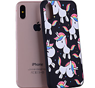 For iPhone X iPhone 8 Case Cover Pattern Back Cover Case Unicorn Soft Silicone for Apple iPhone X iPhone 8 Plus iPhone 8 iPhone 7 Plus