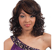cheap -Wavy Highlighted/Balayage Hair Brown Women's Capless Natural Wigs Short Synthetic Hair