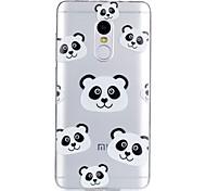 cheap -Case For Xiaomi Pattern Back Cover Panda Cartoon Soft TPU for Xiaomi Redmi Note 4X Xiaomi Redmi Note 4