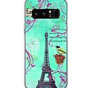 Кейс для Назначение С узором Задняя крышка Эйфелева башня Цветы Мягкий TPU для Note 8 Note 5 Edge Note 5 Note 4 Note 3 Lite Note 3 Note 2