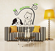 cheap -Animals Fashion Botanical Wall Stickers Plane Wall Stickers Decorative Wall Stickers, Plastic Home Decoration Wall Decal Wall
