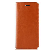 Case For Apple iPhone X iPhone 8 iPhone 8 Plus Card Holder with Stand Flip Full Body Solid Color Hard Genuine Leather for iPhone X iPhone