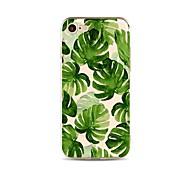 Недорогие -Кейс для Назначение Apple iPhone X iPhone 8 Прозрачный С узором Кейс на заднюю панель дерево Мягкий ТПУ для iPhone X iPhone 8 Pluss