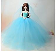Dresses Dresses For Barbie Doll Ocean Blue Dresses For Girl's Doll Toy